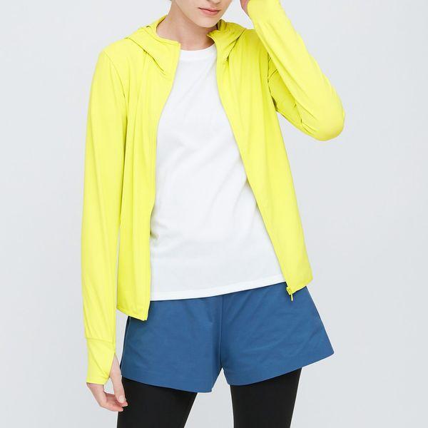 Uniqlo Women Airism UV Protection Mesh Long-Sleeve Full-Zip Hoodie