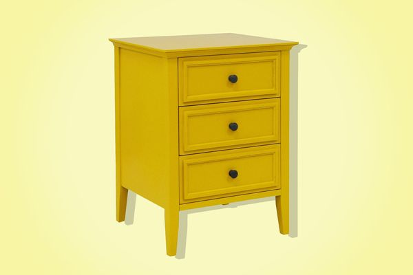 yellow elkton end table - strategist best home decor and best bedside table