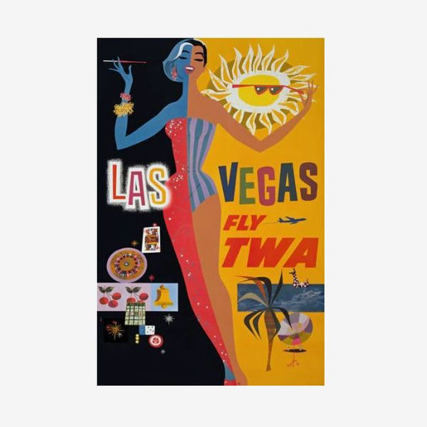 Vintage Las Vegas America Travel Tourism Poster Re-Print