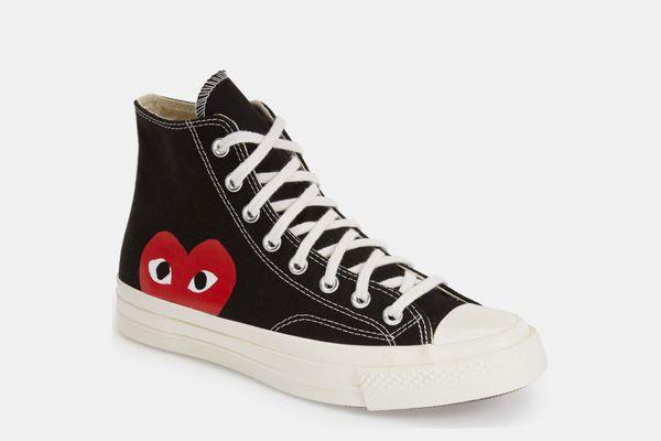 Comme des Garçons PLAY x Chuck Taylor Hidden Heart High Top Sneaker