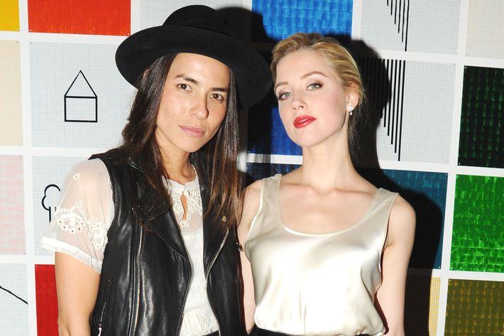 Taysa van Ree and Amber Heard