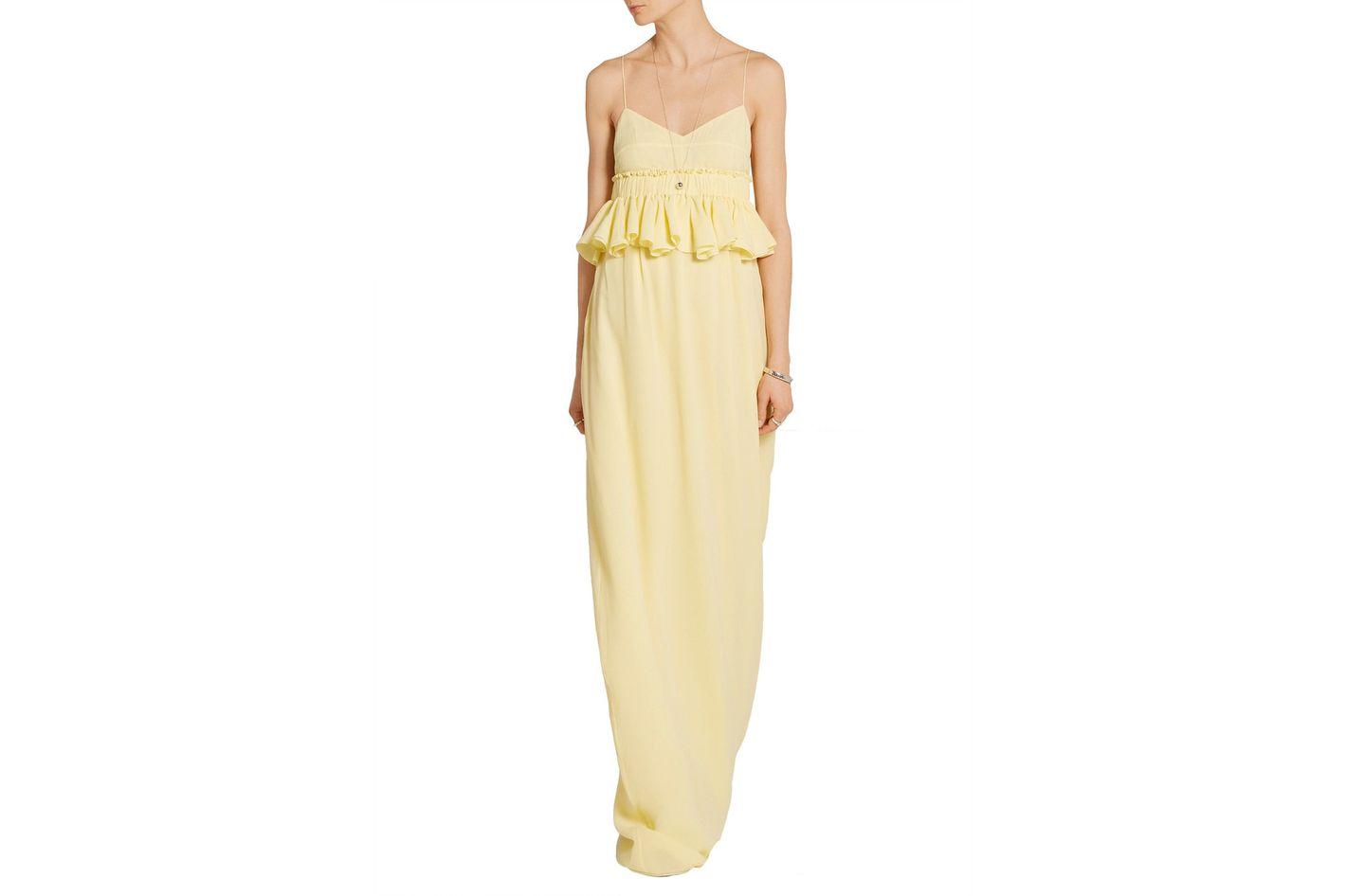 Tod's Silk-georgette peplum gown