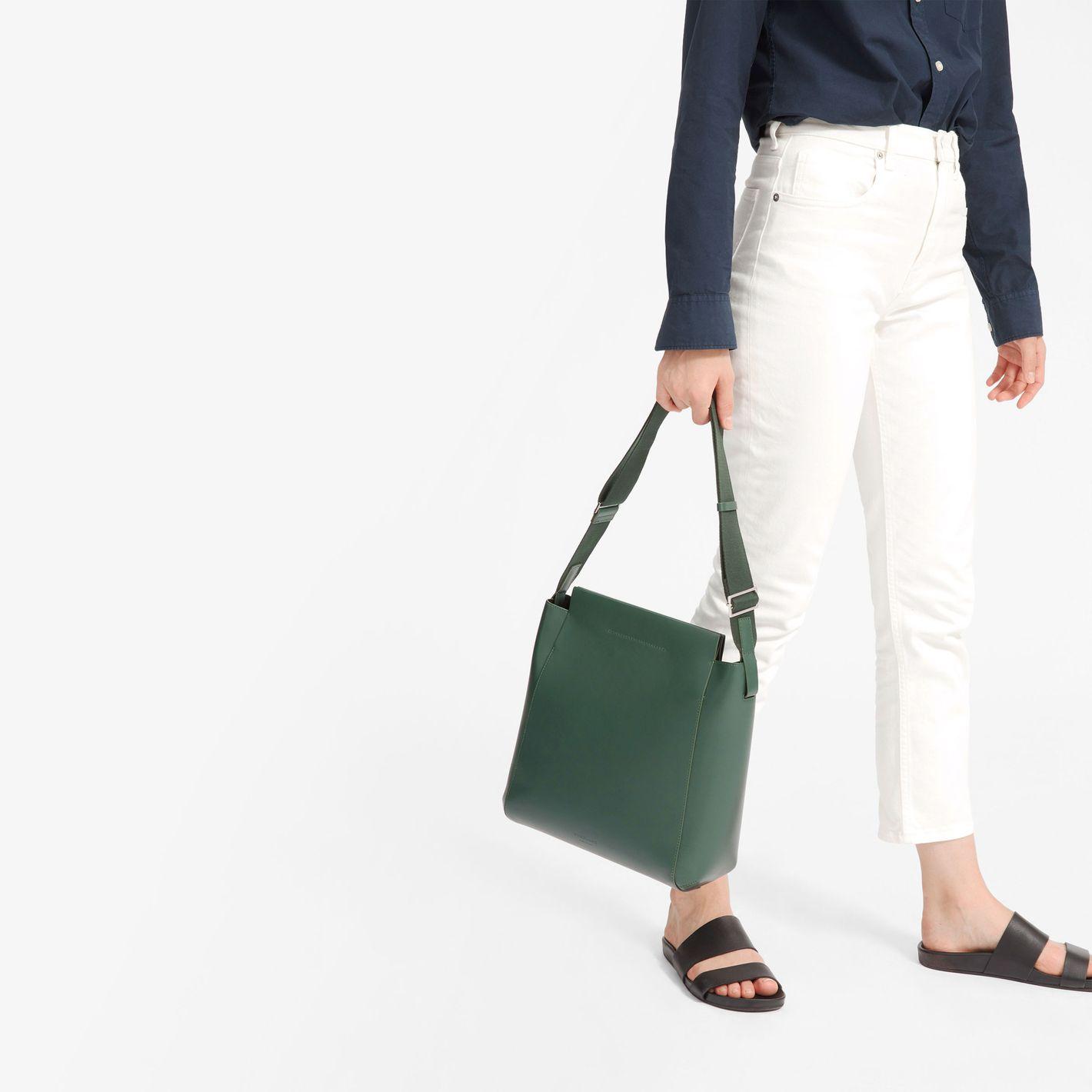 Everlane The Form Bag in Dark Green