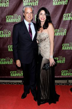 Chef Eric Ripert and Sandra Ripert attend City Harvest's 18th Annual An Evening Of Practical Magic at Cipriani 42nd Street on April 24, 2012 in New York City.