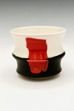 Ceramic Meltdown Red Sun Cup #24