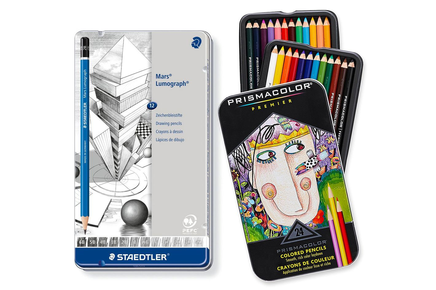 Staedtler Pencil Mars Lumograph, 12 Pieces Set