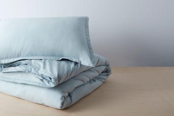 Allswell Organic Garment Wash Percale Duvet Set, Full/Queen