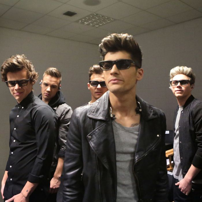 L-r, Harry Styles, Liam Payne, Louis Tomlinson, Zayn Mailik and Naill Horan in TriStar Pictures'