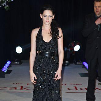 Kristen Stewart attends the UK premiere of The Twilight Saga: Breaking Dawn Part 1 at Westfield Stratford City on November 16, 2011 in London, United Kingdom.