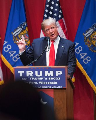 GOP Presidential Candidate Donald Trump Campaigns Near Green Bay, Wisconsin