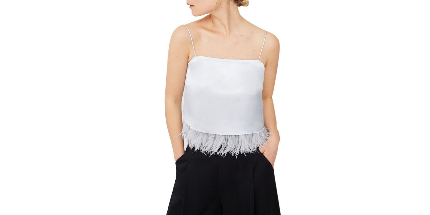 Mango Feather Top