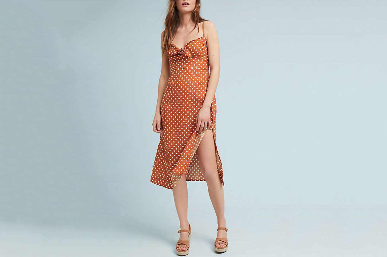 Faithfull Polka Dot Midi Dress