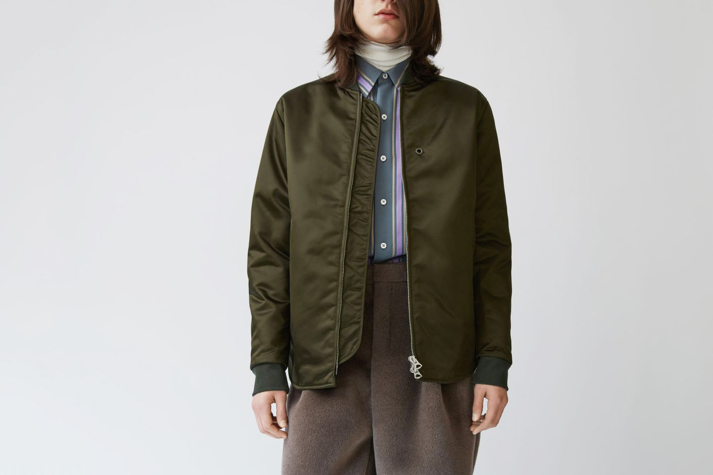 Mylon Green Bomber Jacket