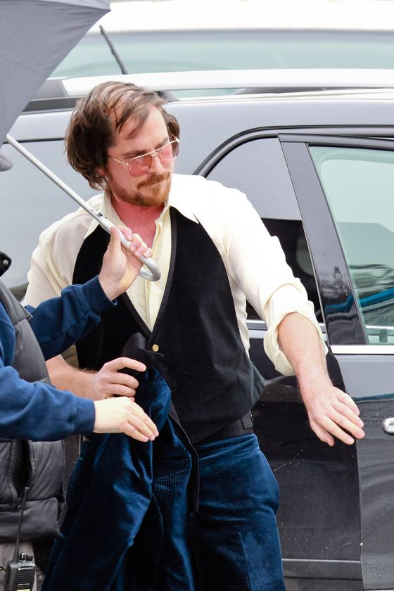 Christian Bale looks heavy and balding and wears 1970s attire on set of the untitled David O. Russell movie in Boston, Massachusetts.  <P> Pictured: Christian Bale <P><B>Ref: SPL512678  210313  </B><BR/> Picture by: Allan Bregg / Splash News<BR/> </P><P> <B>Splash News and Pictures</B><BR/> Los Angeles:310-821-2666<BR/> New York:212-619-2666<BR/> London:870-934-2666<BR/> photodesk@splashnews.com<BR/> </P>
