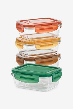 Martha Stewart Collection Glass Food Containers, Set of 4