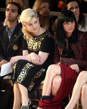 Kelly Osbourne and Leigh Lezark, wearing some pretty interesting genie pants.