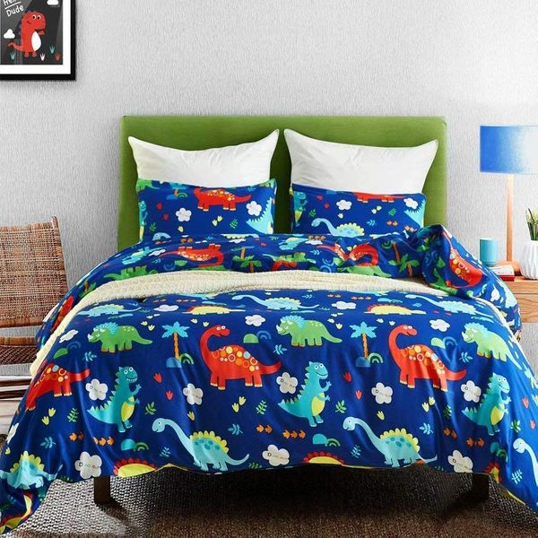 Macohome Dinosaur Twin Duvet Cover Set