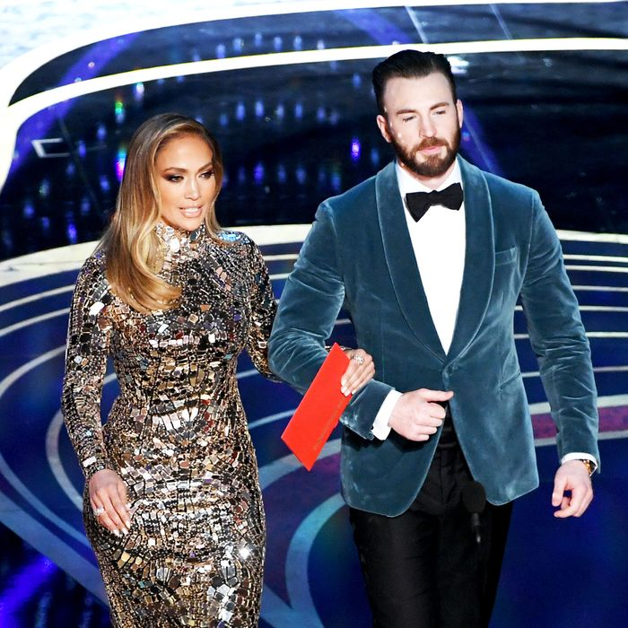 Jennifer Lopez and Chris Evans.