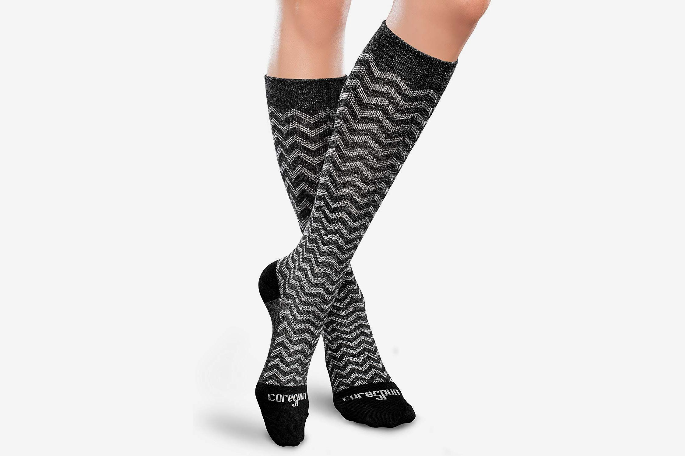 Therafirm Core-Spun 20-30mmHg Moderate Graduated Compression Support Trendsetter Knee High Socks