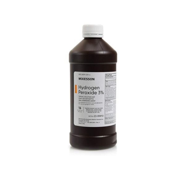 McKesson Antiseptic Hydrogen Peroxide 3% Strength 16oz Bottle