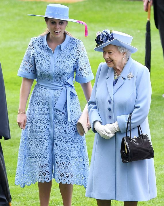 Princess Beatrice and Queen Elizabeth at Royal Ascot.