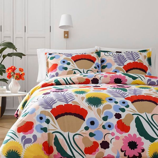 Marimekko Ojakellukka Reversible Duvet Cover Set, Full/Queen