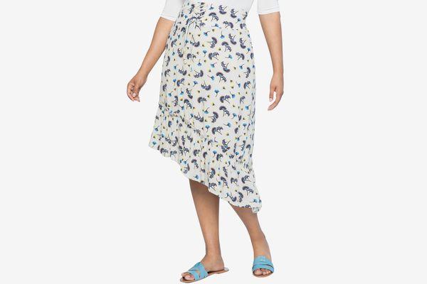 Corset waist flounce skirt