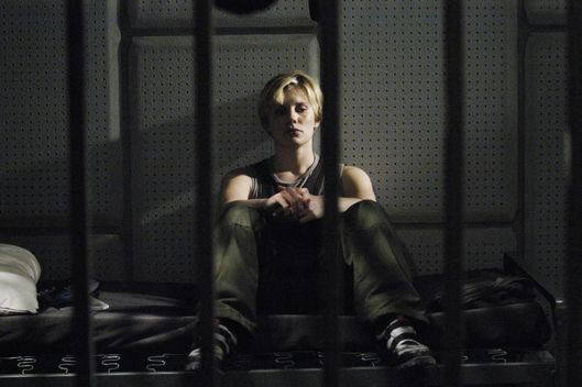 "BATTLESTAR GALACTICA -- SCI FI Channel -- Miniseries -- Air Date 12/08/2003 and 12/09/2003 -- Pictured: Katee Sackhoff as Captain Kara ""Starbuck"" Thrace -- Photo by: Alan Zenuk/SCI FI Channel/NBCUPB"