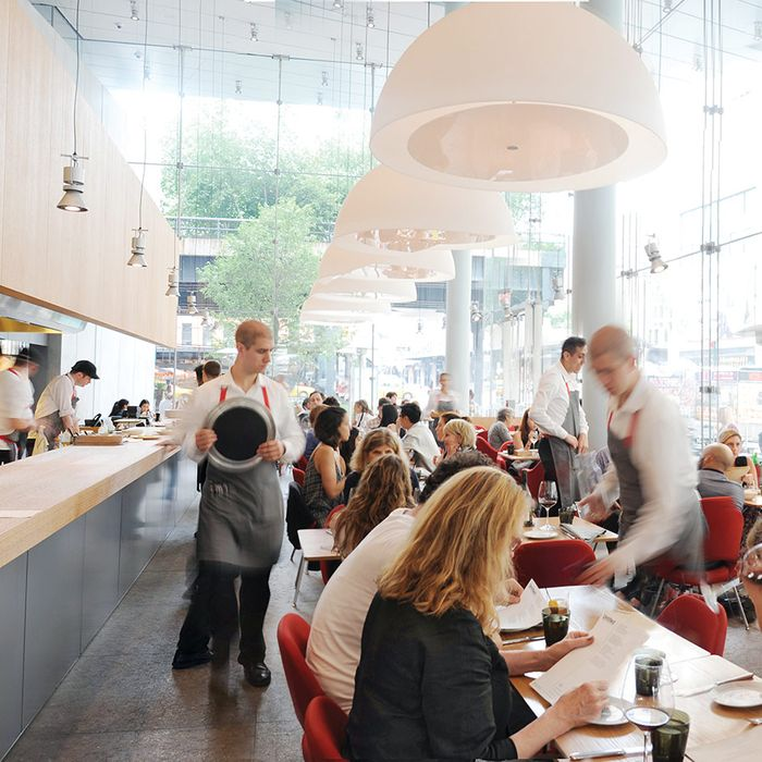 Servers, and diners, at Danny Meyer's Untitled, which will soon go tip-free.