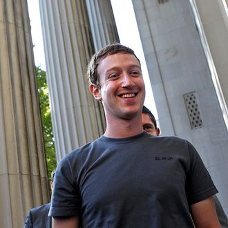 Facebook CEO, Mark Zuckerberg talks to the press before meeting with 200 students at MIT and Harvard.