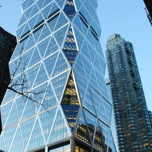 The new Hearst Building is shown in New York February 11, 2008.