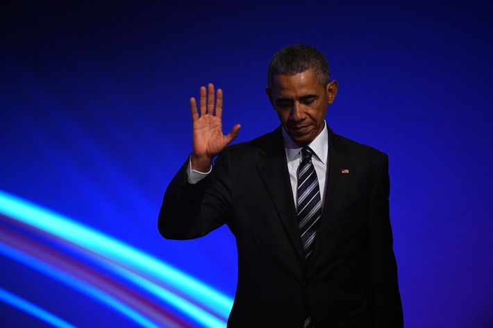 Obama Attends Hanover Trade Fair Opening Evening