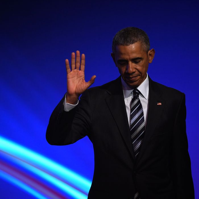 Obama Attends Hanover Trade Fair Opening Evening