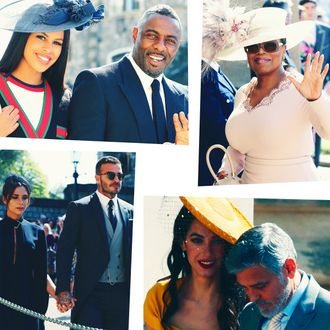 Celebrities at the Royal Wedding.