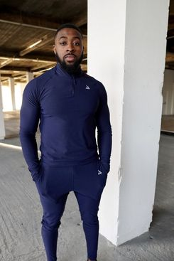 Damihow Navy Tapered Bottom Joggers