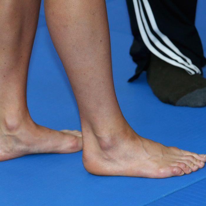 Kate Middleton's feet.