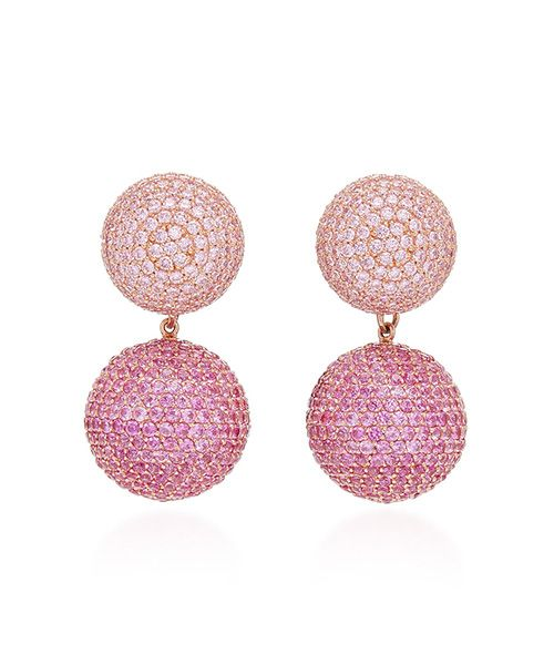 Anabela Chan Rose Sapphire 18K Gold Drop Earrings