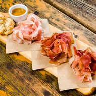 Country ham plate delivered to your door.