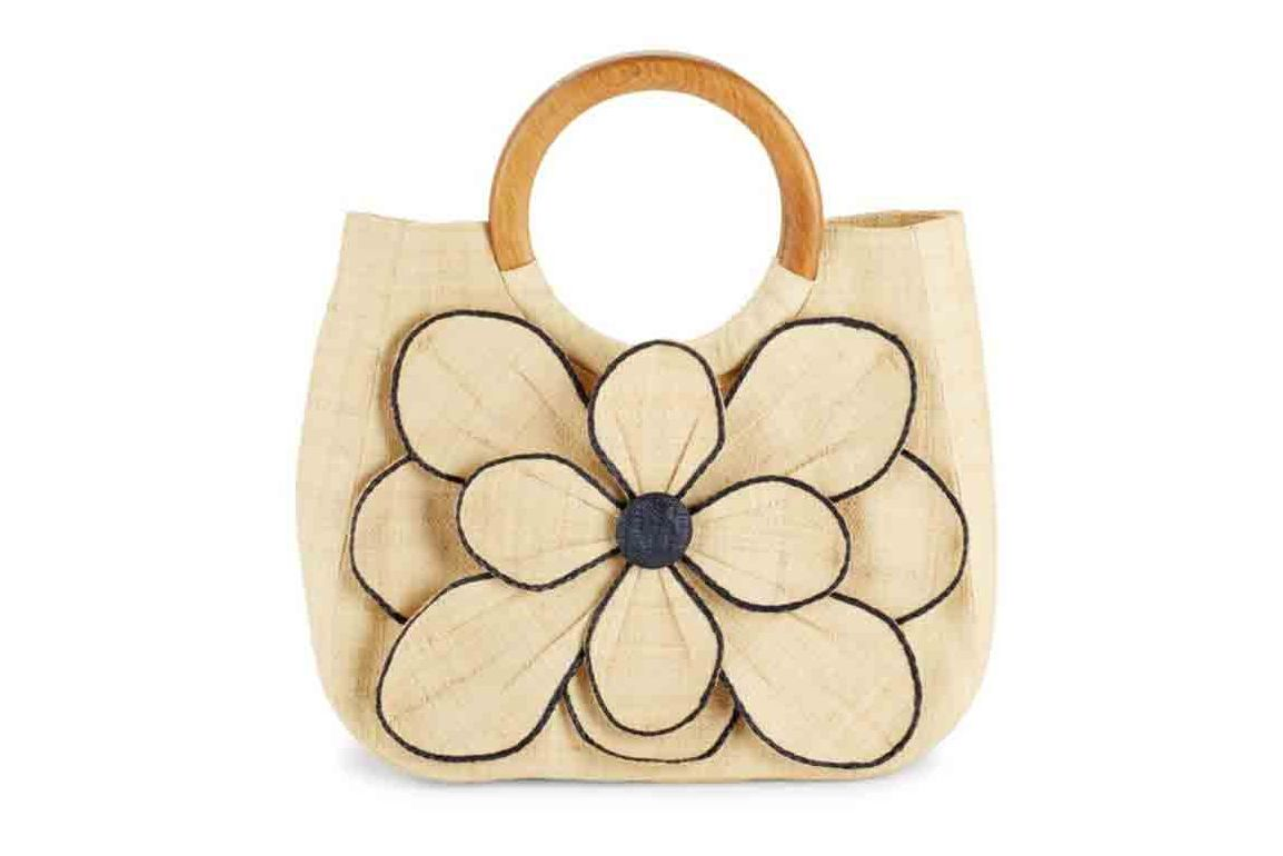 Mar Y Sol Guadeloupe Floral-Motif Straw Handbag