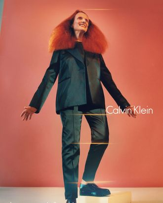 Grace Coddington in Calvin Klein's fall 2016 campaign.