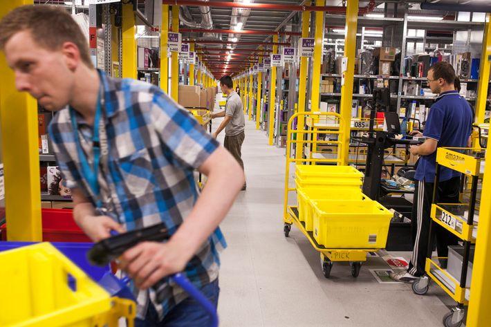 Inside New Amazon.com Inc.'s Fulfilment Center