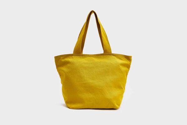 Baggu Small Canvas Retail Tote in Citron