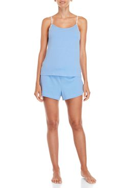 Calvin Klein Two-Piece Carousel Shelf Bra Camisole & Shorts PJ Set