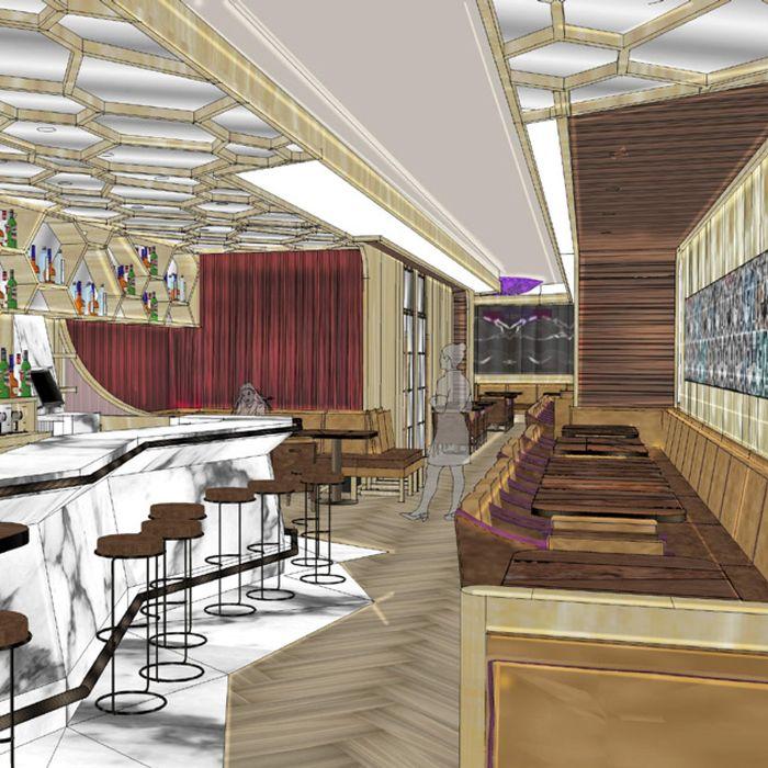 The bar at B & Co.