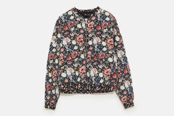 Zara Printed Quilted Bomber
