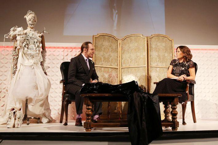John Galliano and Alexandra Shulman.