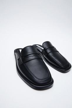 Open Back Low Heel Loafers