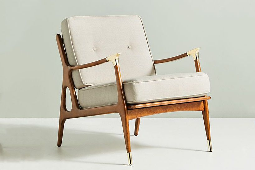 Anthropologie Linen Haverhill Chair
