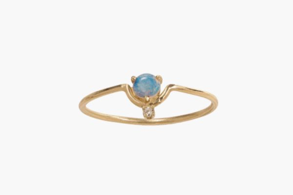 Nestled Opal and Diamond Ring