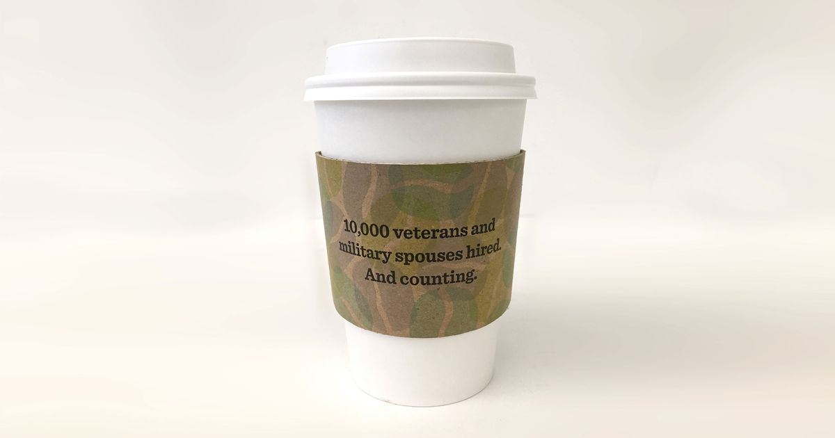 starbucks made camo cup sleeves to prove it s pro veterans